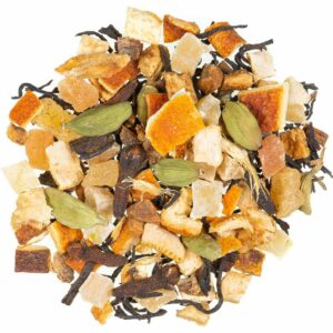 Früchteteemischung mit Schwarztee Glühweingewürz, loser Tee